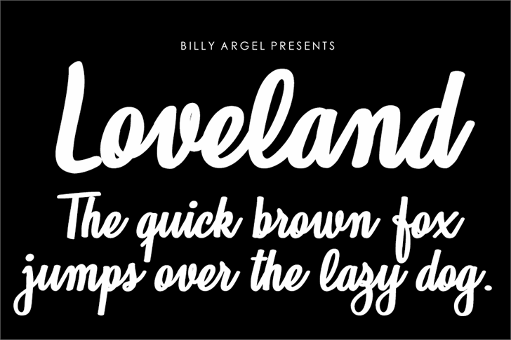 Loveland Personal Use Font text