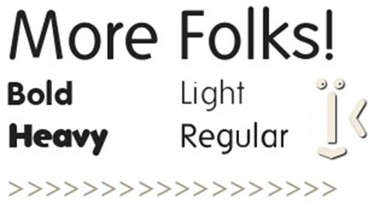 Folks Font design typography