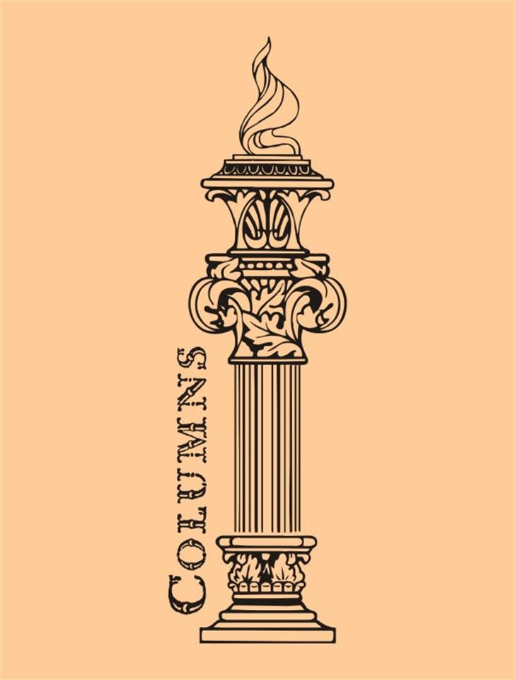 Columns Font illustration cartoon