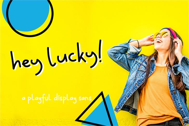 Hey Lucky Font person design