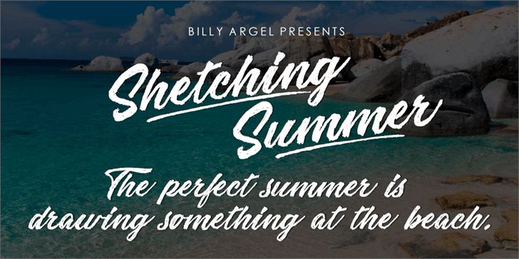 Sketching Summer Personal Use Font design text