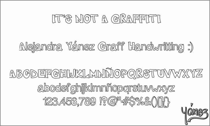 Graff Font screenshot text