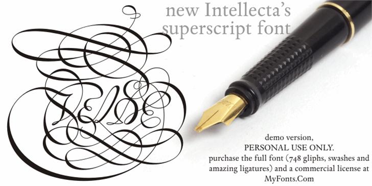 Van den Velde Script DEMO VERSI Font stationary writing implement