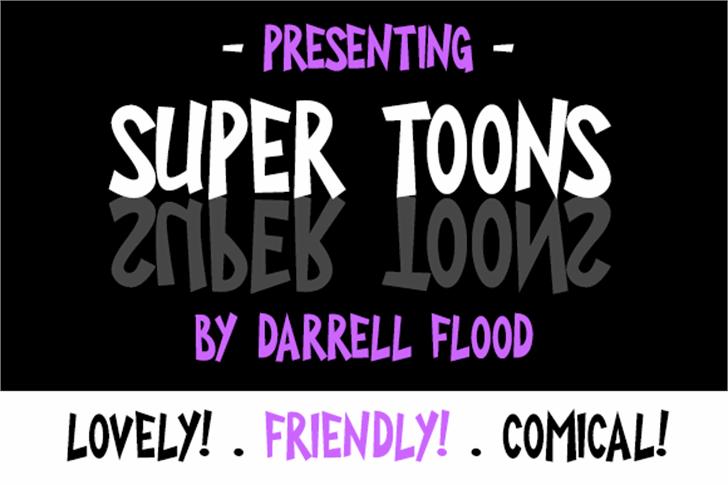 Super Toons Font poster screenshot