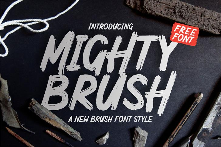 Mighty Brush Font poster typography