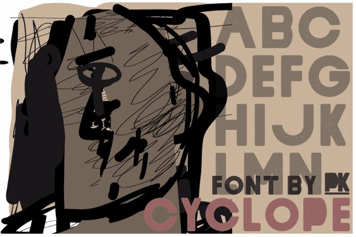 Cyclope Font cartoon poster