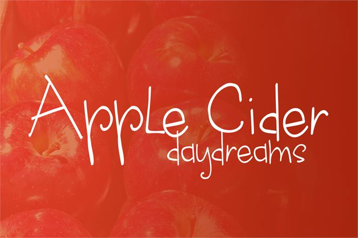 apple cider daydreams Font design text