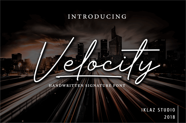 Velocity - DEMO Font scene way