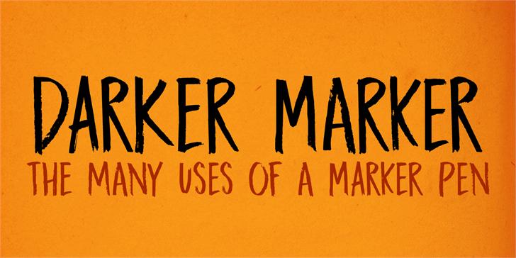 DK Darker Marker Font handwriting text