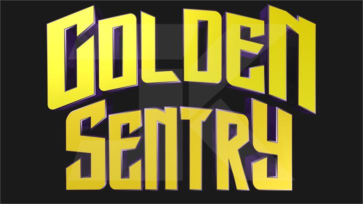 Golden Sentry Font poster