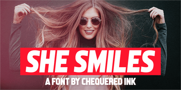 She Smiles Font human face person