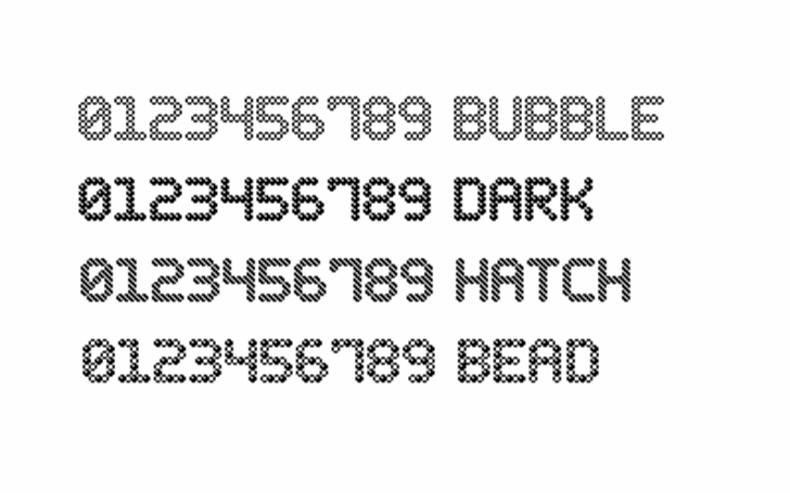 Bubble Pixel-7 Font cartoon design