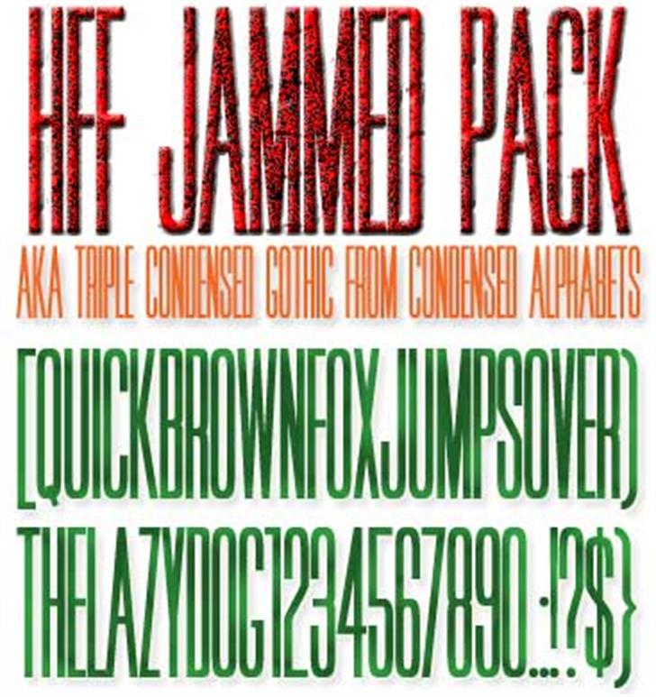 HFF Jammed Pack Font poster text