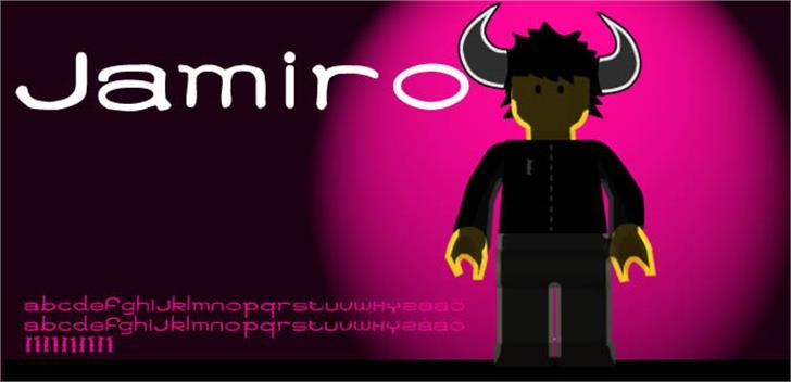 Jamiro Font cartoon poster