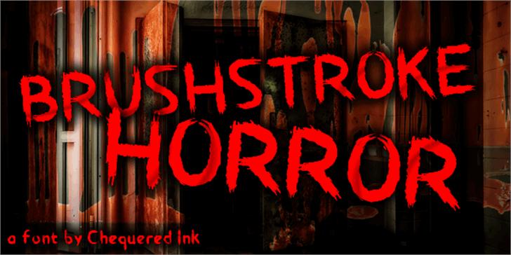 Brushstroke Horror Font building sign