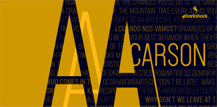 Carson Font poster design