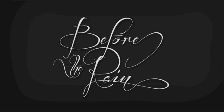 Before the Rain font by Måns Grebäck
