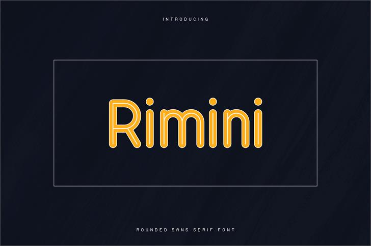RIMINI-ROUNDED SANS SERIF FONT screenshot design