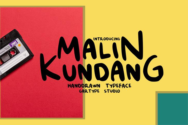 Malin Kundang[Demo] Font poster design