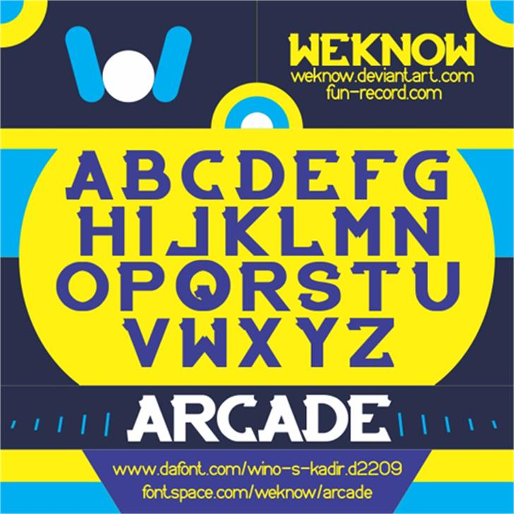 ARCADE Font poster screenshot