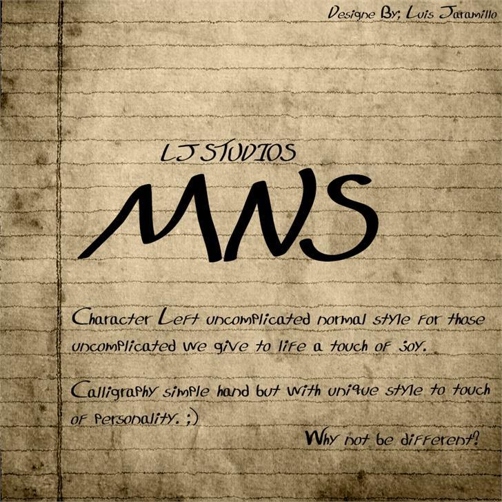 LJ Studios MNS Font text handwriting
