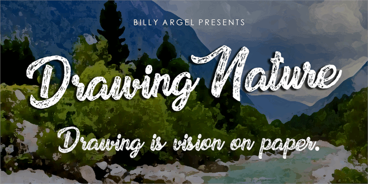 Drawing Nature Personal Use Font text poster