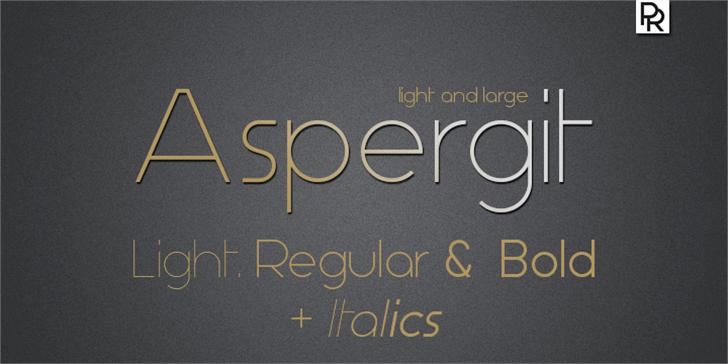 Aspergit Font text handwriting