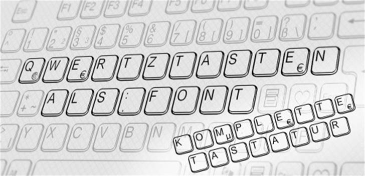 aa QWERTZ-Tasten Font electronics keyboard