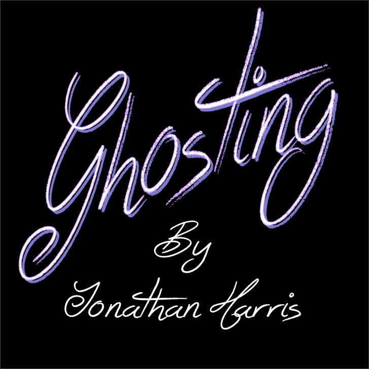 Ghosting Font handwriting typography
