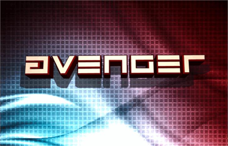 Avenger Font screenshot design
