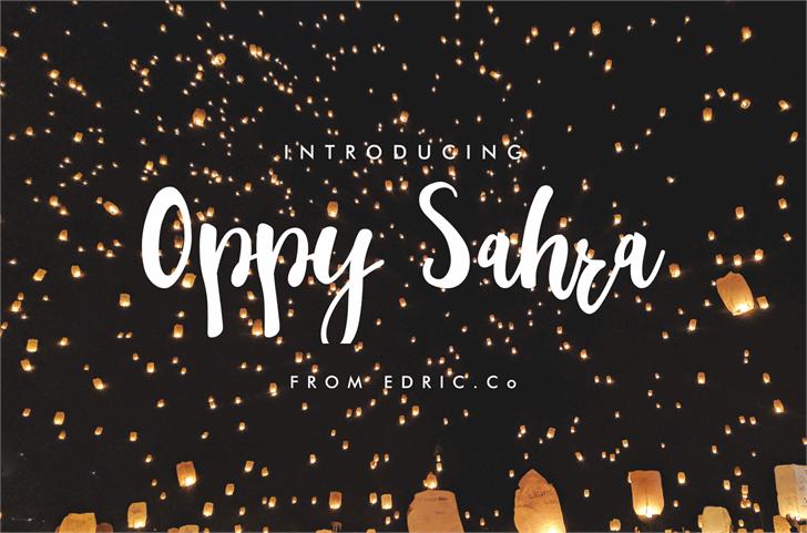 oppyl Font fireworks design