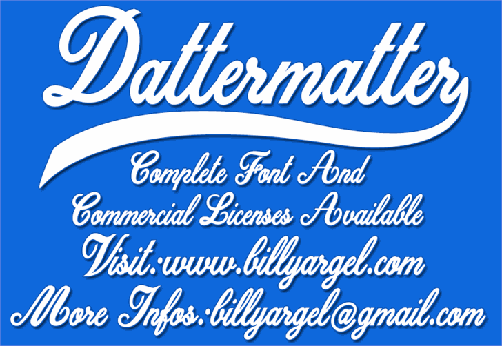 Dattermatter Personal Use font by Billy Argel