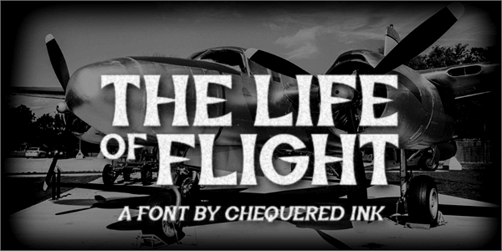 The Life of Flight Font plane airplane