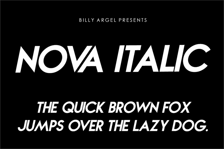 NOVA ITALIC Personal Use Font screenshot design
