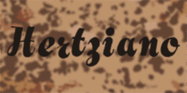 Hertziano Font handwriting