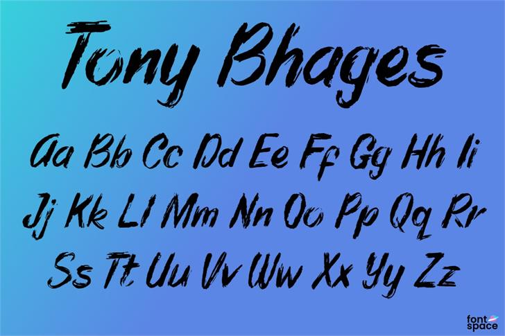 Tony Bhages Font poster