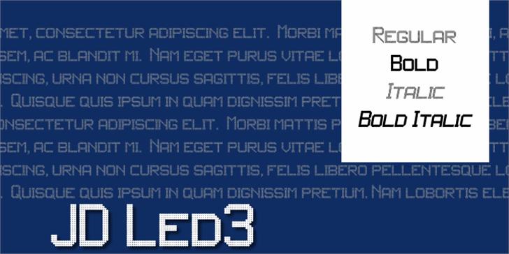 JD LED3 Font screenshot text