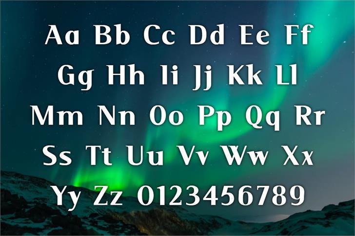 Serif Font poster