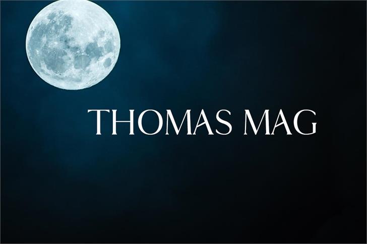 Thomas Mag Font moon screenshot