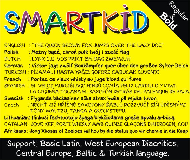 Smart Kid Font screenshot abstract