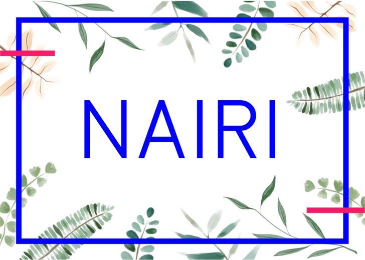 Nairi Normal Font design graphic