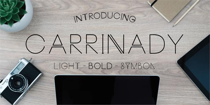 Carrinady Font handwriting design