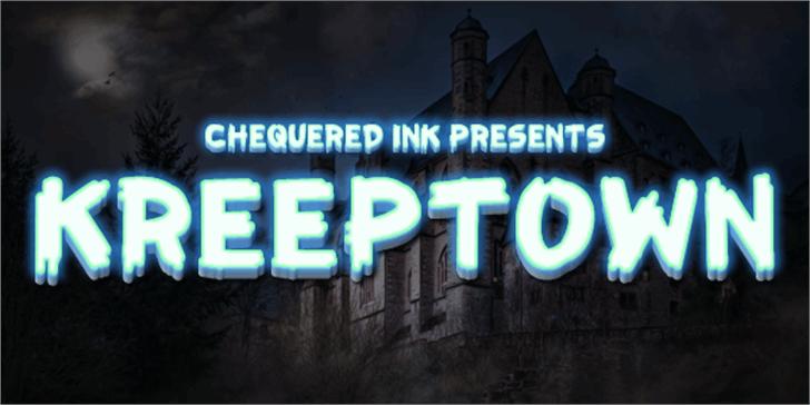 KreepTown Font screenshot sky