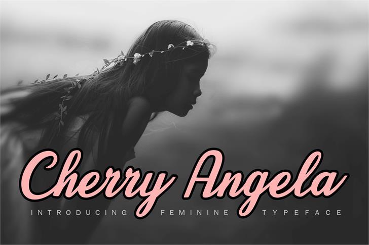 Cherry Angela Font poster
