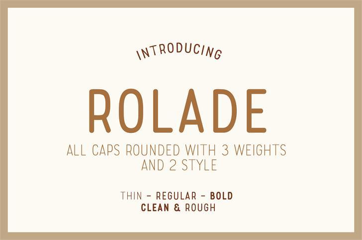 Rolade Free Font design text