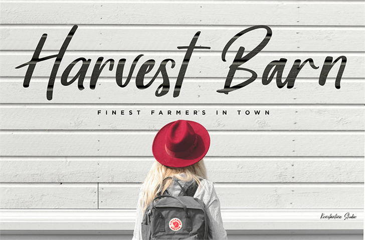 Harvest Barn DEMO font by Konstantine Studio