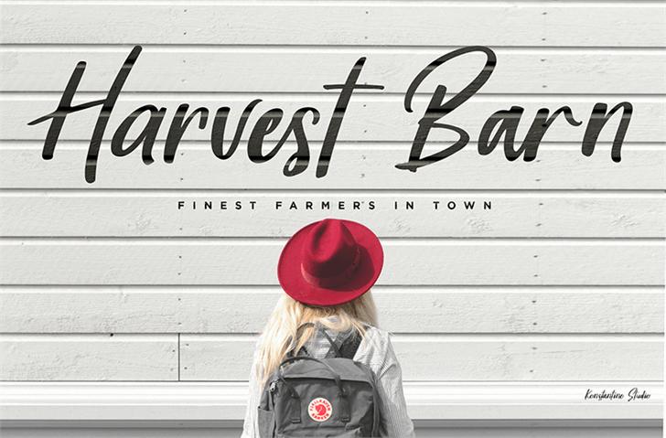 Harvest Barn DEMO Font road hat