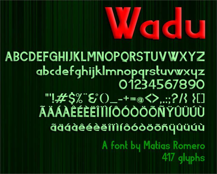 Wadu  Font screenshot text