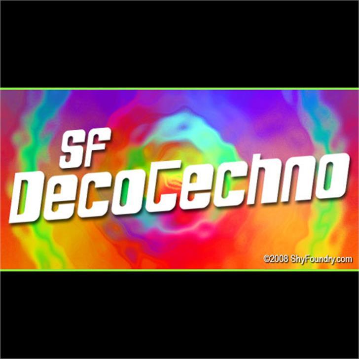 SF DecoTechno Font screenshot indoor