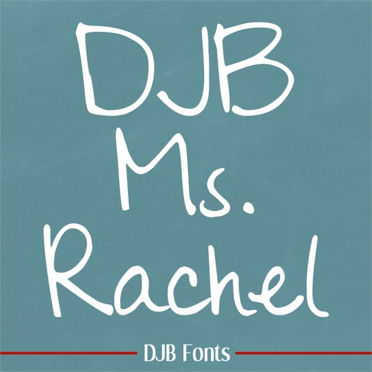 DJB Ms Rachel Font blackboard handwriting